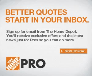 Sign Up For The Home Depot Pro Newsletter And You Ll Receive Exclusive Offers Coupons In Your Inbox We Ve Been Living At This Past Month