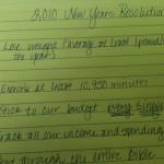 2010 Resolutions Recap