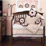 Pink Mod Daisy 4-Piece Crib Bedding Set – $59.99