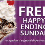Friendly's: Free Happy Ending Sundae with Any Chicken Strips Entree