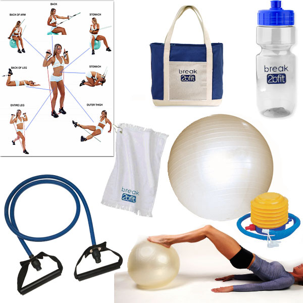 Graveyard Mall Exercise Ball & Resistance Band Fitness Kit