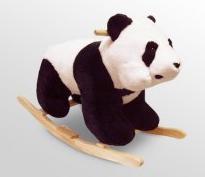 Happy Trails Plush Panda Rocking Animal