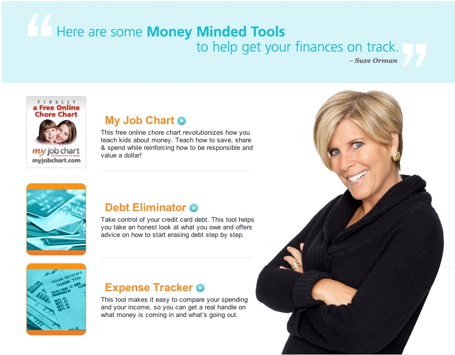 Suze Orman says My Job Chart revolutionizes the way your teach your family about money