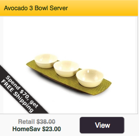 Avocado 3 Bowl Server on Sale at HomeSav