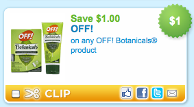 Off! Botanicals Printable Coupon