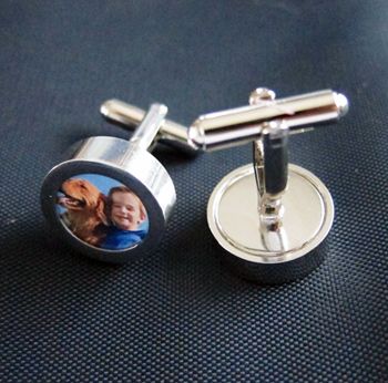 Father's Day Gift Idea: Custom Photo Cufflinks