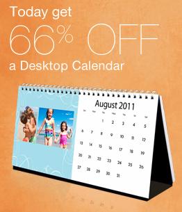 Walgreens: 66% Off Photo Desktop Calendar