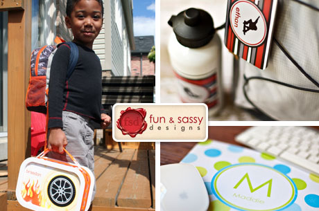 $40 of Personalized Back to School Supplies from Fun and Sassy Designs for Only $15
