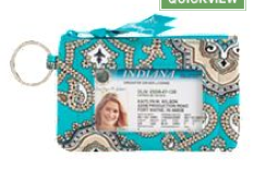 Vera Bradley Zip ID Case in Totally Turq