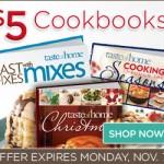 Taste of Home $5 Book Sale