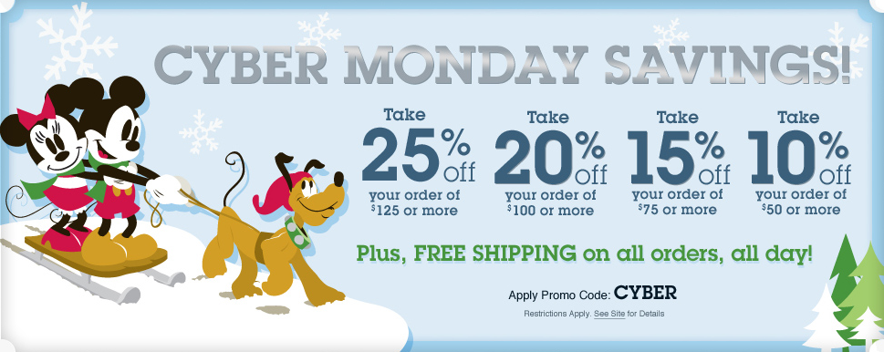 Disney Store Cyber Monday Special