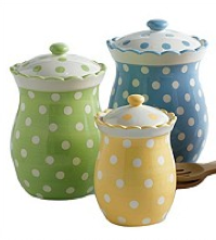 Tea Party Polka Dot Canisters