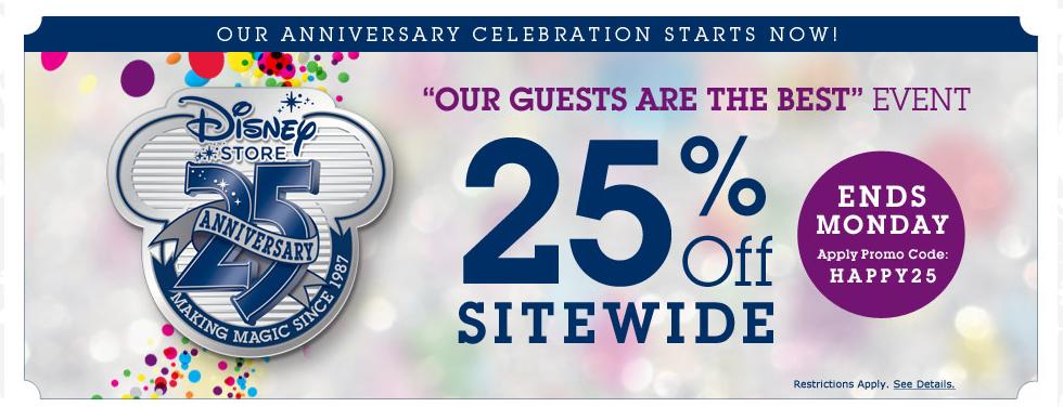 Disney Store Anniversary Sale