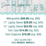 Vera Bradley Tech Sale (Sunday & Monday Only)