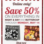 Last Chance: 50% Off Night & Day and Buttercup at Vera Bradley