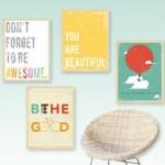 $40 of inspiring modern art from Fresh Words Market for $20