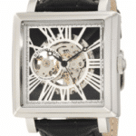 Stuhrling Original Men's 389.33151 Classic Automatic Skeleton Square Silvertone Watch Set $79.99 (reg. $495)
