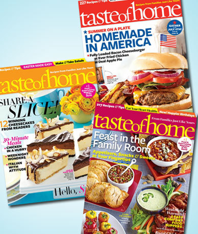 Taste of Home Magazine Subscripton Only $5