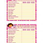 Printable Emergency Cards