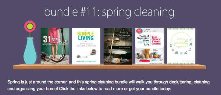 Spring Cleaning eBook Bundle: 5 Books for $7.40