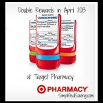 Double Rewards at Target Pharmacy in April 2013