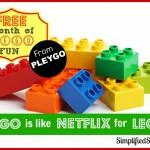 Free Month of Lego Fun with Pleygo