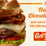 FREE Cheeseburger from Ruby Tuesday (First 100,000)