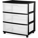 Get Organized Before Christmas: Sterilite 3-Drawer Wide Cart $18.97