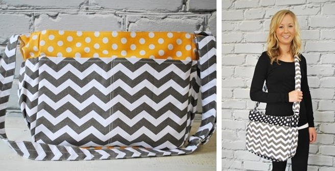 Chevron Canvas Bag Only $19.99 {Absolutely Adorable}