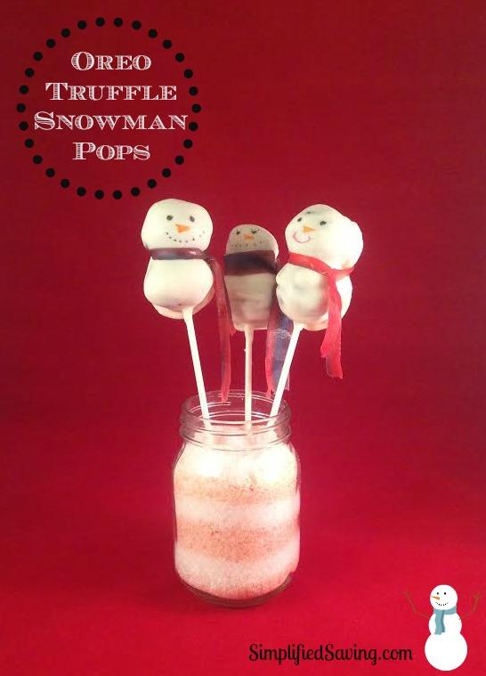 Oreo Truffle Snowman Pops