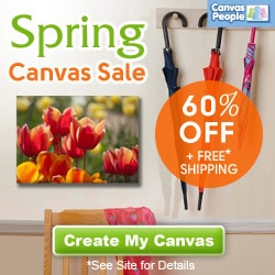 Canvas Prints: 60% Off Plus FREE Shipping