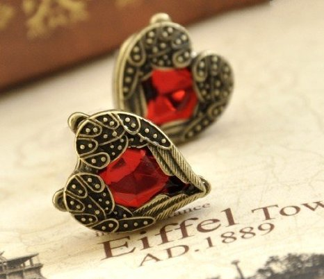 Retro Bronze Heart Earrings Only $3.00 {Perfect for Valentine's Day}
