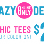 Crazy 8 Graphic Tees Only $2.99 Each {Today Only}