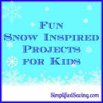Snow Inspired Projects for Kids {Snow Day Ideas}