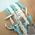 Vintage Nautical Love Infinity Bracelete $2.09 Shipped