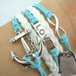 Vintage Nautical Love Infinity Bracelete $2.09 Shipped