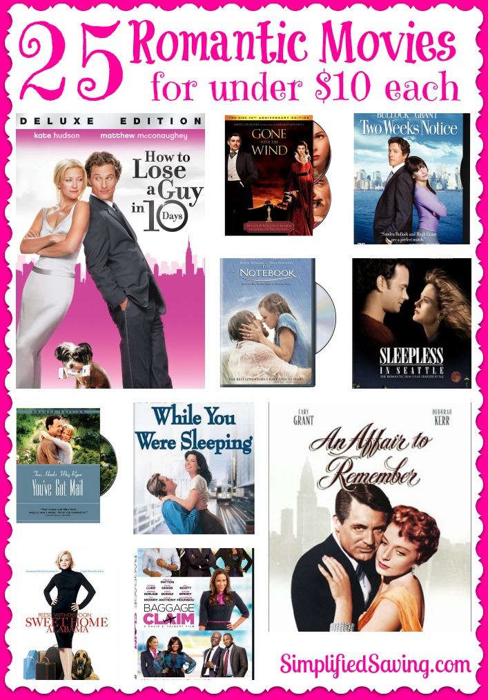 25 Romantic Movies for under $10 each