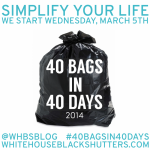40 Bags in 40 Days Challenge: Declaring War on Clutter