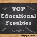 Educational Freebies: Free Printables, Free Worksheets, Free Apps & More
