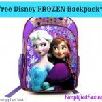 FREE Disney Frozen Backpack