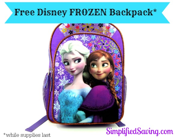FREE Disney Frozen Backpack