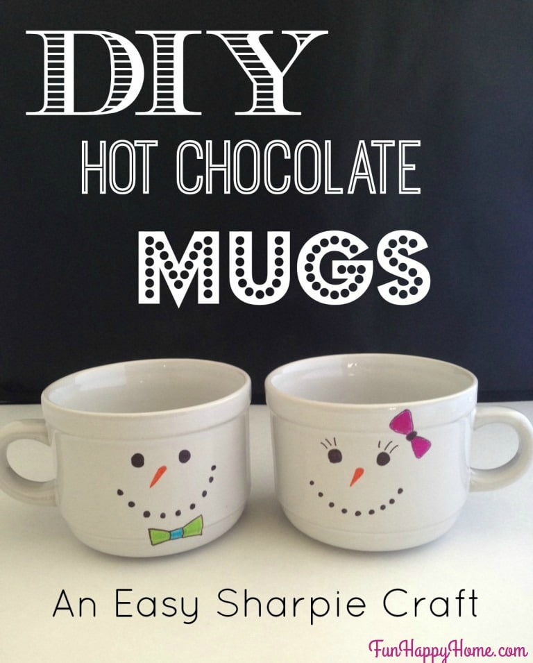 Snowman Mugs Easy To Make Hot