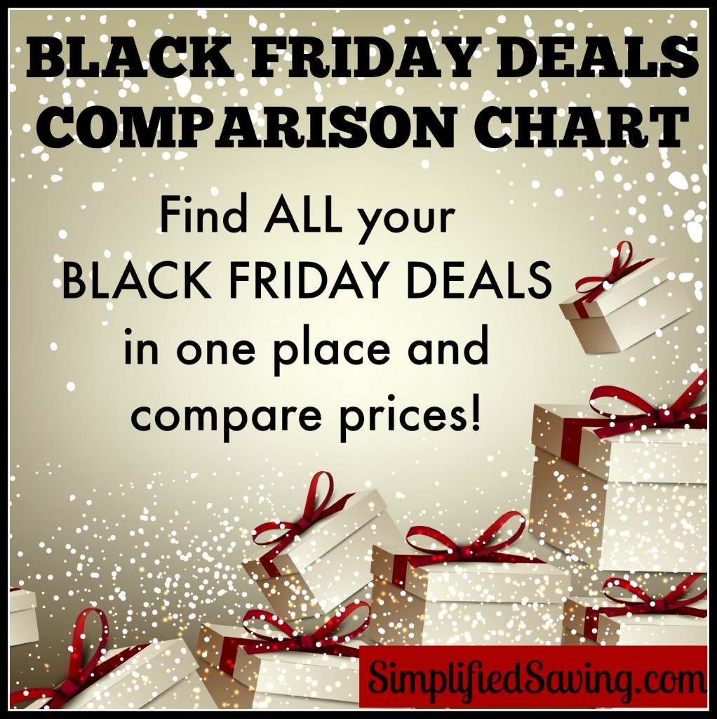 Black Friday Comparison Chart: Compare ALL the Black Friday Deals in One Place