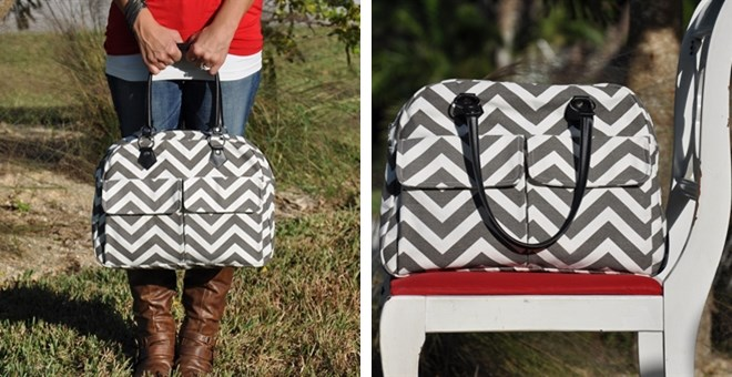 Chevron Bowler Style Bag Only $24.99 {Great Gift}