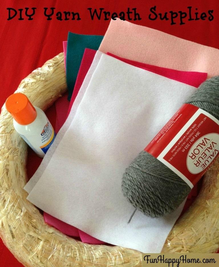 DIY Yarn Wreath Supplies from FunHappyHome.com