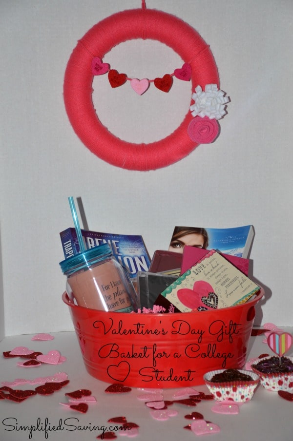 Valentine's Day Gift Basket For a College Student