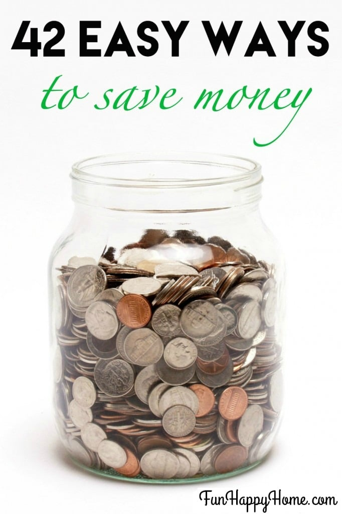 42 easy ways to save money fun happy home for Fastest way to save for a house
