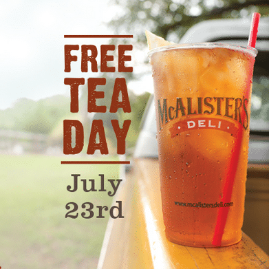 Celebrate Free Tea Day at McAlister's {July 23,2015}