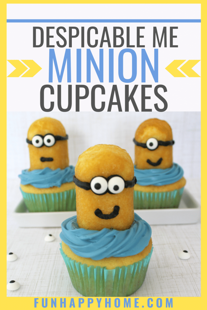 These delicious cupcakes are made to look like minions thanks to twinkies and some edible eyeballs. If you loved despicable me, you're going to love these easy minion cupcakes.