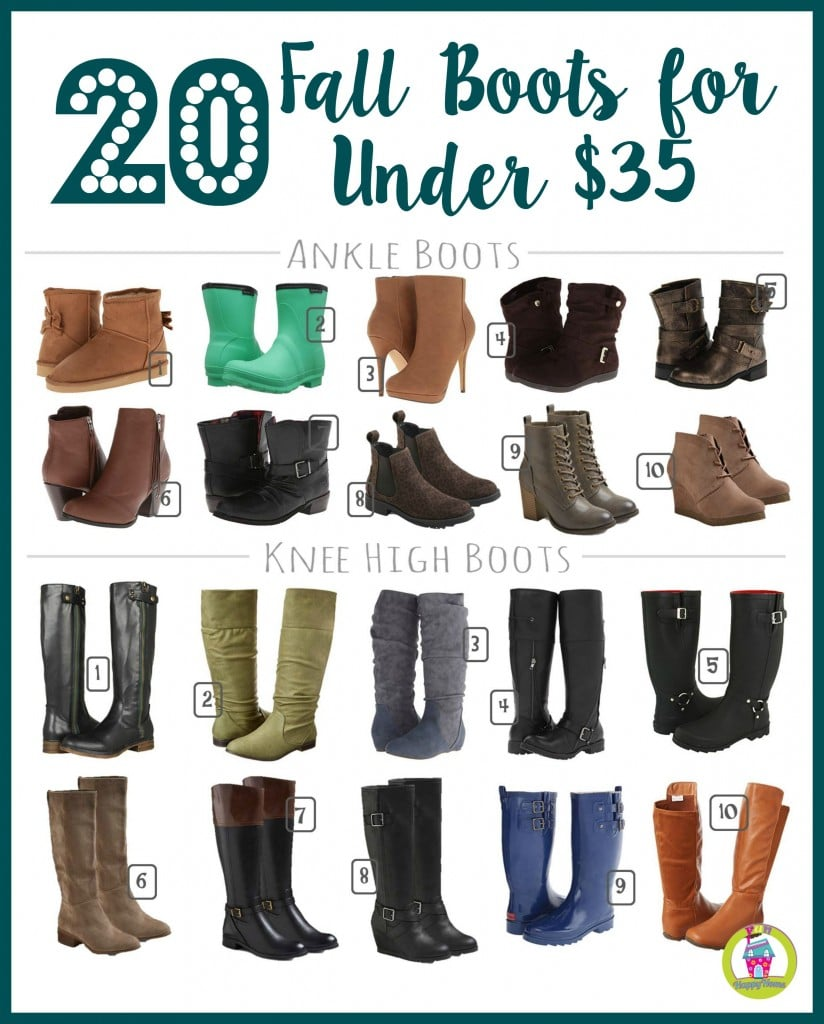 20 Pairs of Fall Boots that are Under $35